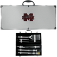 Mississippi St. Bulldogs 8 pc Stainless Steel BBQ Set w/Metal Case